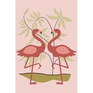 Simple Flamingo - Pink - Lantern Press Artwork (Cotton/Polyester Chef's Apron)