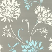 Brewster DL30458 Nerida Light Grey Floral Silhouette Wallpaper - Light grey - N/A