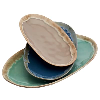 Tabletops Gallery Assorted Tuscon Serving Platters - Set of 3