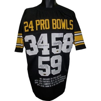 5002c4791e8 Shop Andy Russell signed Black TB Custom Stitched Pro Style Football Jersey  XL (Linebacker Greats) 3 sig w insc w Embroidered Stats - Free Shipping  Today ...