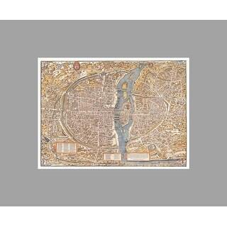Paris Vintage City Map Vintage City Maps Matte Poster 36x27