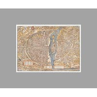Paris Vintage City Map Vintage City Maps Matte Poster 36x27