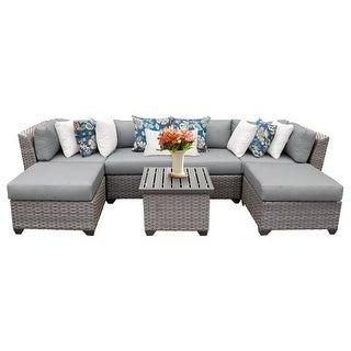 Florence 7 Piece Outdoor Wicker Patio Furniture Set