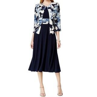 Jessica Howard NEW Blue Women's Size 6 Floral Empire Waist Dress Set