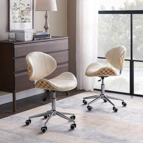 Art-Leon Swivel Accent Home Office Desk Chair with Casters