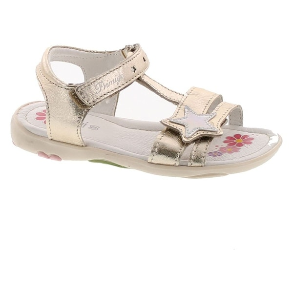 Primigi Girls 14277 Leather European Adjustable Fashion Sandals - GOLD