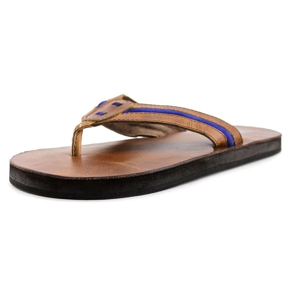 29 Porter Rd Foster Men Open Toe Leather Brown Thong Sandal