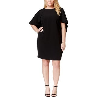 Calvin Klein Womens Plus Cocktail Dress Solid Batwing - 20W
