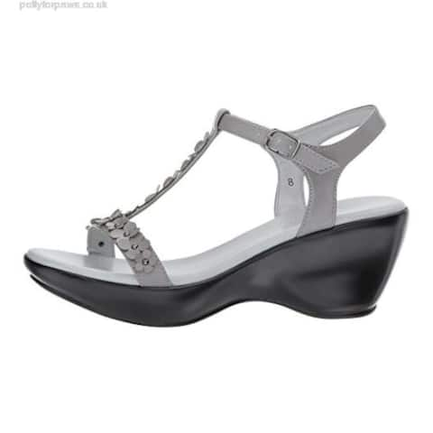Athena Alexander Womens Evelyn Open Toe T-Strap Wedge Pumps