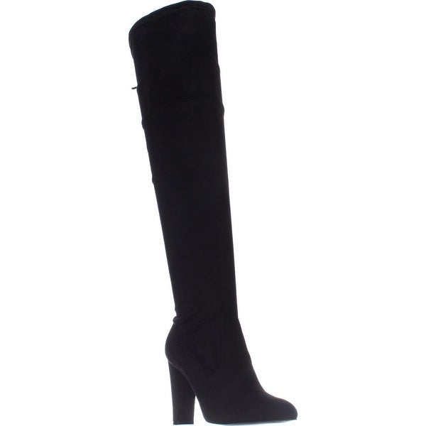 Charles Charles David Sycamore Knee-High Boots, Black Stretch - 9.5 us