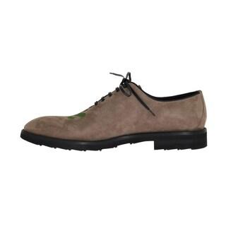 Dolce & Gabbana Beige Suede Ricamo Texas Dress Shoes - eu44-us11