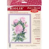 "Bouquet Of Chrysanthemums Counted Cross Stitch Kit-11.75""X15.75"" 14 Count"