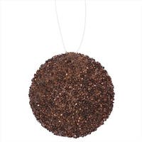 Chocolate Brown Sequin And Glitter Drenched Christmas Ball