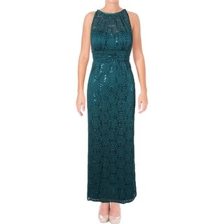 R&M Richards Womens Petites Evening Dress Lace Sequined