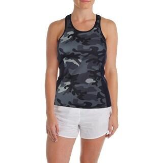 L-RL Lauren Active Womens Camouflage Racerback Tank Top