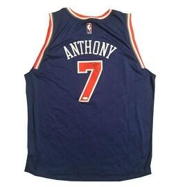 Carmelo Anthony Autographed Knicks Adidas Signed Basketball Jersey JSA COA