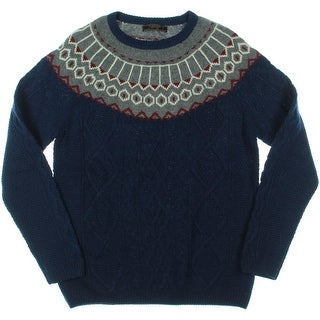 Zara Mens Wool Cable Knit Pullover Sweater - XL