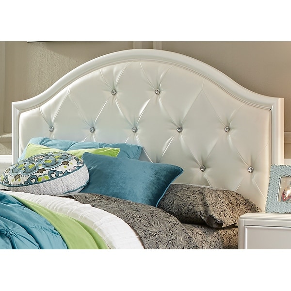 Stardust Youth Iridescent White Full Panel Headboard. Opens flyout.