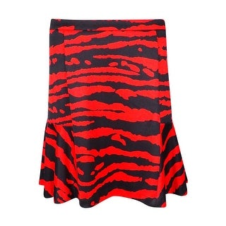 Michael Kors Women's Animal Print Jersey Skirt