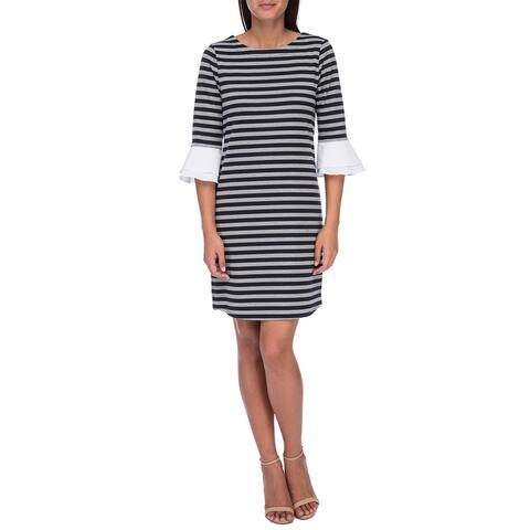 Bobeau Flare Sleeve Dress