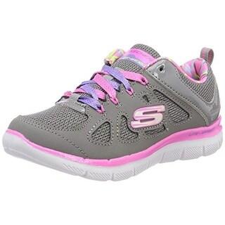 Skechers Kid's Skech Appeal 2.0 Simplistic Girls Cross Training Shoes Grey/Pink 1.5 Medium Us Little Kid