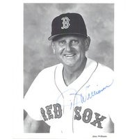 Signed Williams Jimy Boston Red Sox 8x10 BW autographed