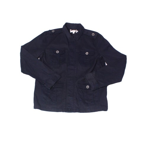 Frame Denim Navy Blue Mens Size Large L Button-Front Jacket