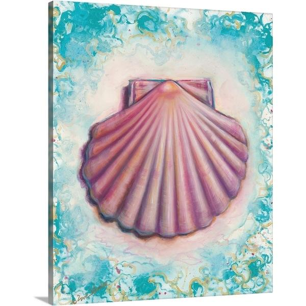 """Shell Rosa"" Canvas Wall Art"