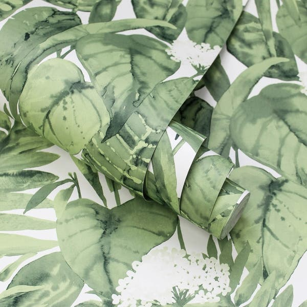 Shop Tropical Peel And Stick Wallpaper 56 Sq Ft Overstock 31851421