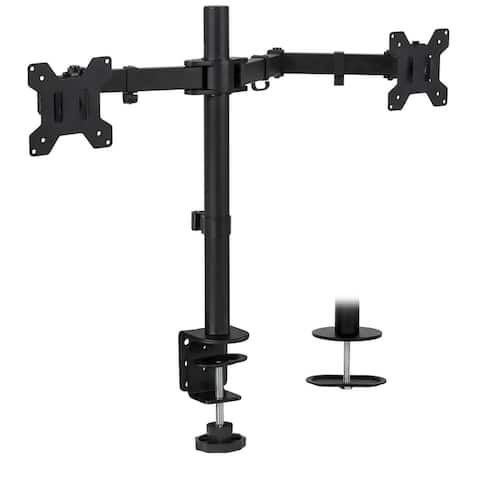 Mount-It! Dual Monitor Desk Mount Two Heavy Duty Arms Fit up to 32 Inches