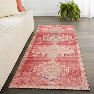 Link to Vibe by Jaipur Living Evadne Medallion Pink/ Blue Area Rug Similar Items in Rugs