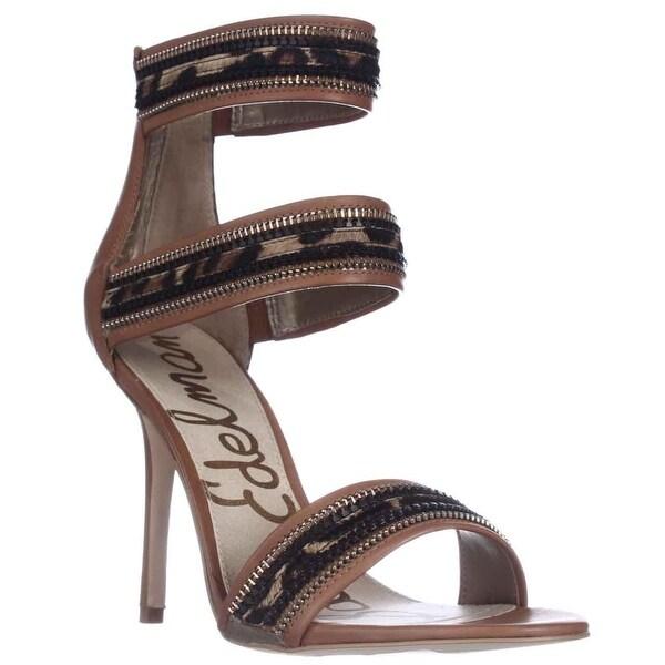 Sam Edelman Alton Cuff Sandals, Saddle/Leopard