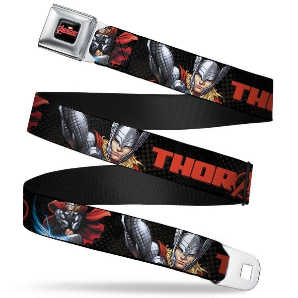 Marvel Avengers marvel Avengers Logo Full Color Black Red White Thor Old Seatbelt Belt