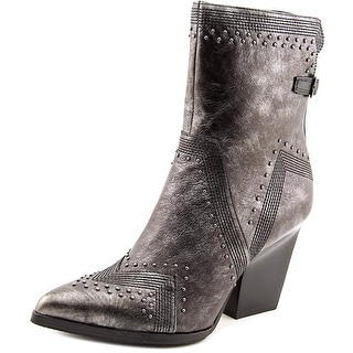 Donald J Pliner Vegas Women Pointed Toe Leather Gray Ankle Boot