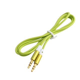 3.5mm Male to Male Stereo Aux Mp4 Headphone Audio Cable Cord Green