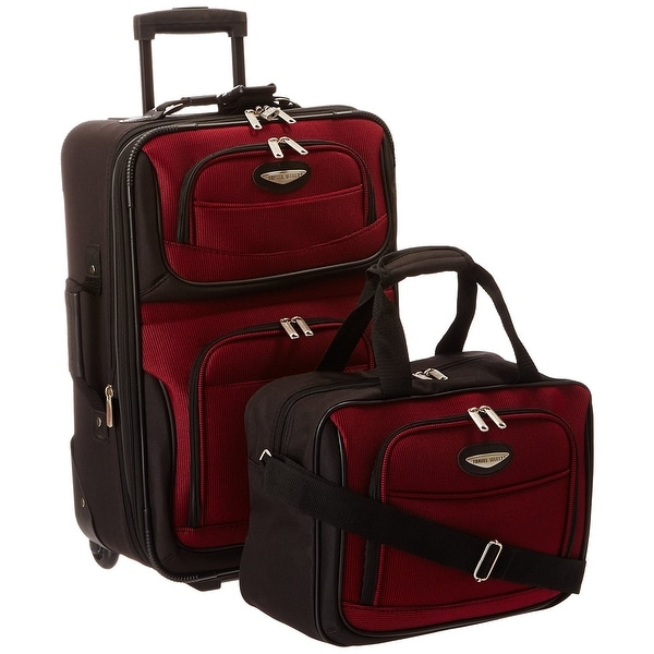 0632de26ae1d Shop Travel Select Amsterdam Two Piece Carry-On Luggage Set -Burgundy -  Free Shipping Today - Overstock - 15974072