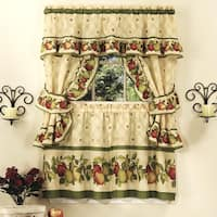 Apple Orchard Printed Kitchen Curtain Set, 57x36 Inches