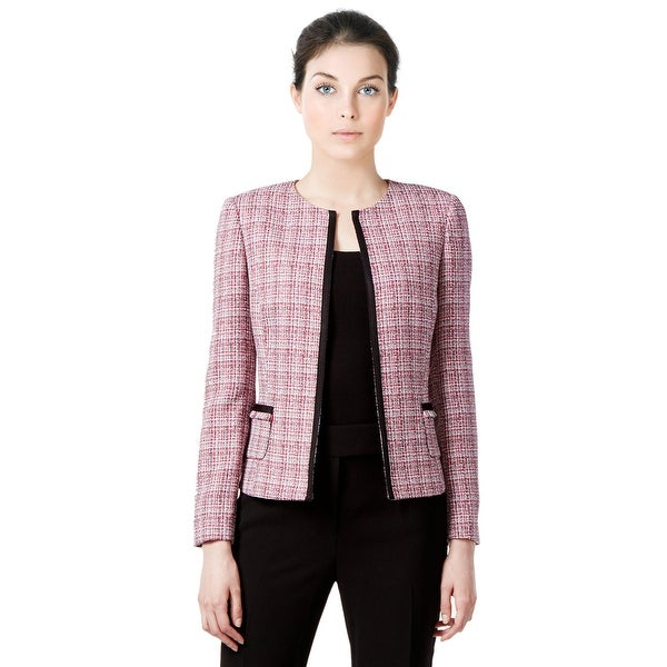 93780db2bae Shop Tahari ASL Plus Size Tweed Soutache Trim Open Front Jacket Blazer -  18W - Free Shipping Today - Overstock - 19986336