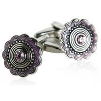 Cufflinks With Pink Crystals