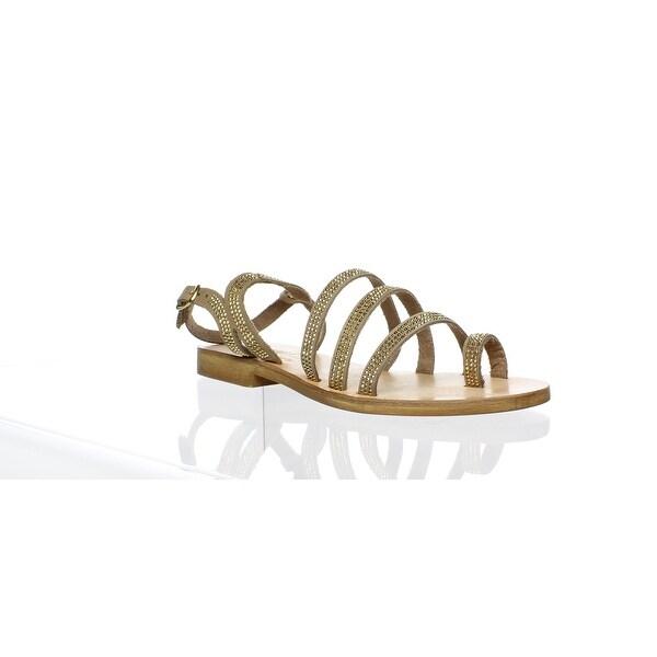 3332c84c0 Shop L Space by Cocobelle Womens Gold Ankle Strap Flats Size 6 ...