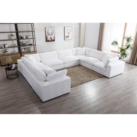 Rivas Contemporary Feather Fill 8-Piece Modular Sectional Sofa