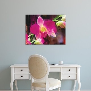 Easy Art Prints Lola Henry's 'Painterly Flower V' Premium Canvas Art