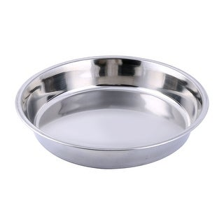 Home Restaurant Stainless Steel Food Fish Cooking Steamer Pan Dish Silver Tone