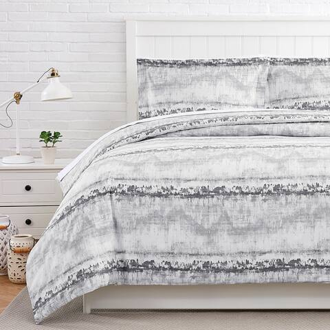 Abstract 100% Cotton Sateen Duvet Cover and Sham Set