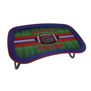 NCAA Florida Gators Multi-function Metal Lap Tray w/Folding Legs 22 Inch - Blue