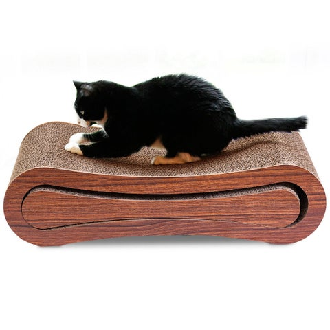 Gymax 2 In 1 Pet Cat Scratching Board Corrugated Cardboard Pad For Kitten w Catnip