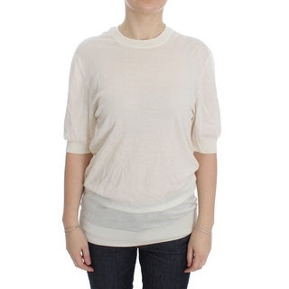 Dolce & Gabbana Dolce & Gabbana White 100% Cashmere Sweater - it40-s