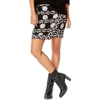 Free People Womens Pencil Skirt Marled Above Knee