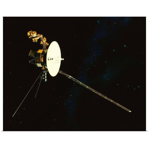 """""""Spacecraft in Space"""" Poster Print"""
