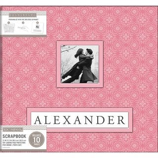 "K&Company Frame-A-Name Post Bound Album 12""X12""-Pink